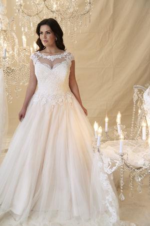 Callista Plus Size Bride Monet White Designer Studio Navan